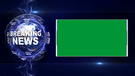 breaking news background breaking news text animation and earth and green screen