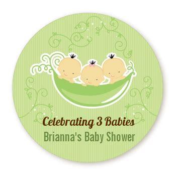 Three Peas In A Pod Baby Shower by Custom Triplets Three Peas In A Pod Asian Baby Shower