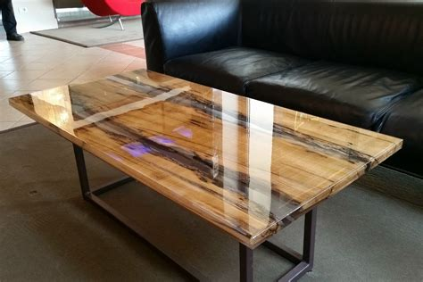 wood and resin table rectangular solid wood coffee table wood and resin