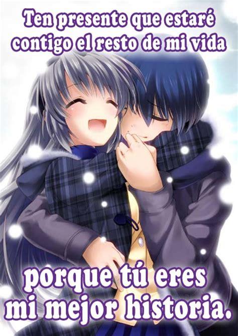 imagenes bonitas de amor anime lindas frases de amor de anime para dedicar imagenes de