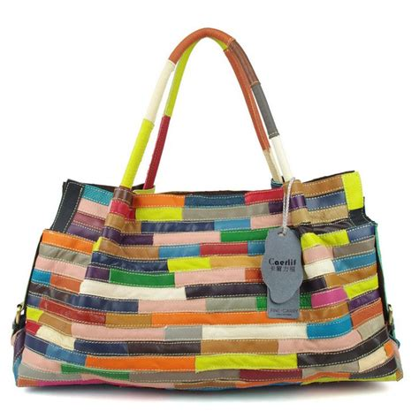 Patchwork Purses - patchwork leather bag bags totes purses