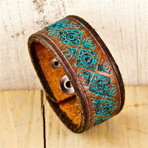 Handmade Leather Cuffs - best 25 leather cuff bracelets ideas on