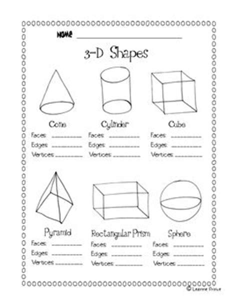 printable math worksheets faces edges and vertices this file is a 1 page worksheet to review how many faces