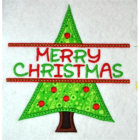split christmas tree applique