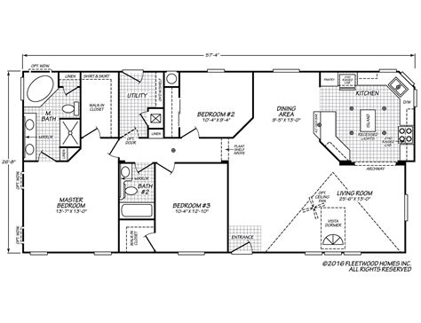 fleetwood floor plans vogue ii 28573l fleetwood homes