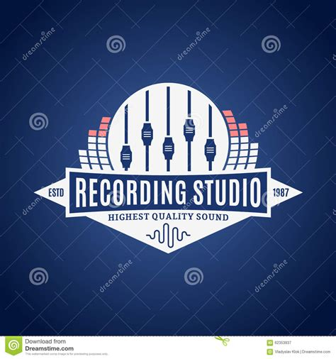 recording studio logo stock vector image of sign shirt