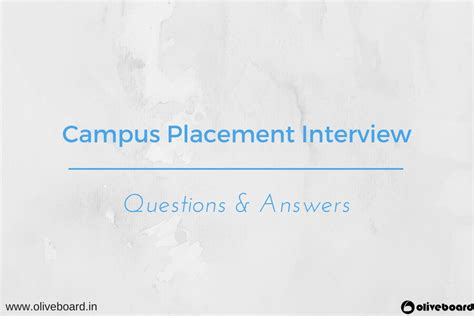 Common Questions For Mba Freshers by Cus Placement Questions Answers For Freshers Oliveboard