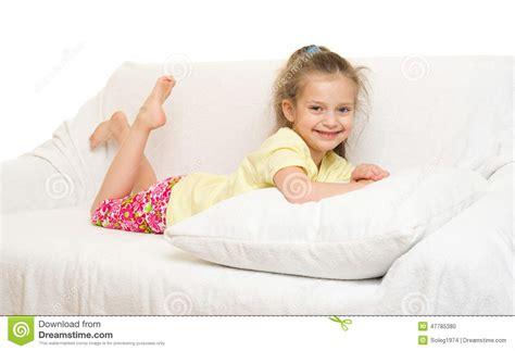 girl on bed little girl in bed