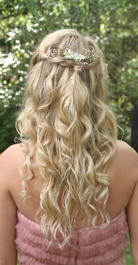 prom hairstyles bohemian bohemian princess hair braided crown gathered in the