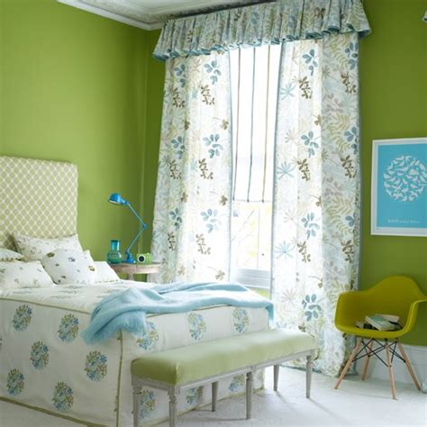 lime green curtains for bedroom floral green bedroom traditional bedroom idea