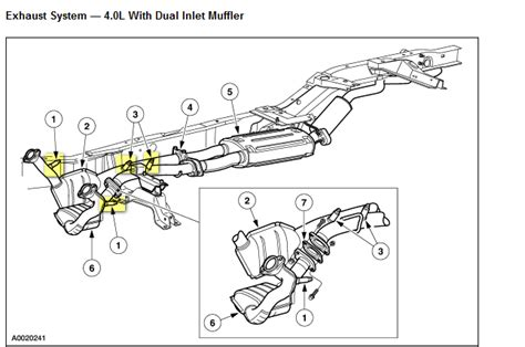 2003 Ford Mustang Exhaust Diagram