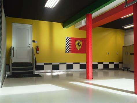 white floor color garage after remodel combined with yellow wall painted interior and