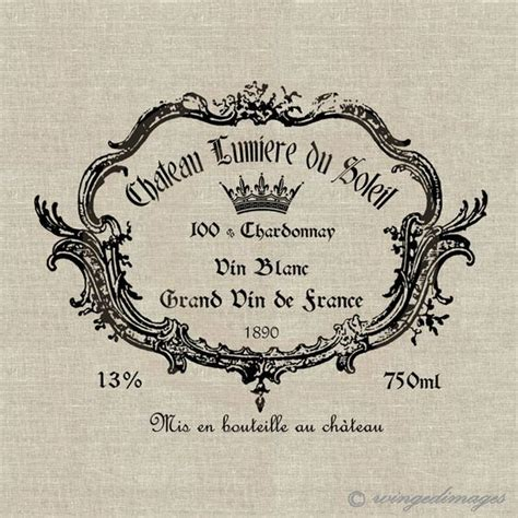 printable wine label paper vintage french wine label instant download digital image