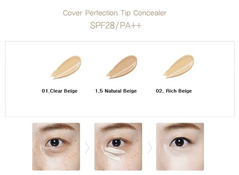 The Saem Cover Perfection Tip Concealer 01 Clear Beige the saem cover perfection tip concealer ibuybeauti