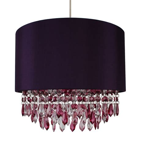 Purple Chandelier Shades Modern Easy Fit Drum Shade Purple Fabric Ceiling Pendant Chandelier Light Ebay