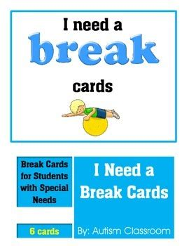 I Need A Card Template by Autism Support I Need A Cards By Autism Classroom