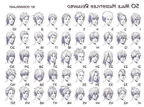 names of boy hairstyles anime hairstyles male names hairstyles