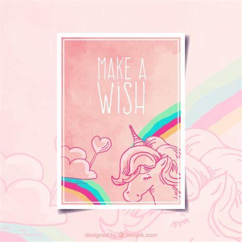 make a wish card make a wish card design vector free