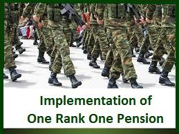 to demand implementation of the one rank one pension afpfile implementation of one rank one pension central