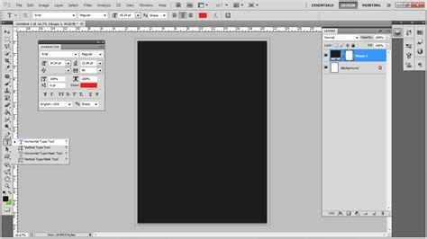 tutorial photoshop cs5 membuat tulisan keren cara membuat text typography keren dengan photoshop cs5
