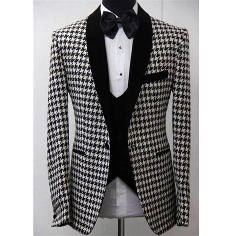 black pattern suit latest coat pant design white black pattern shawl lapel