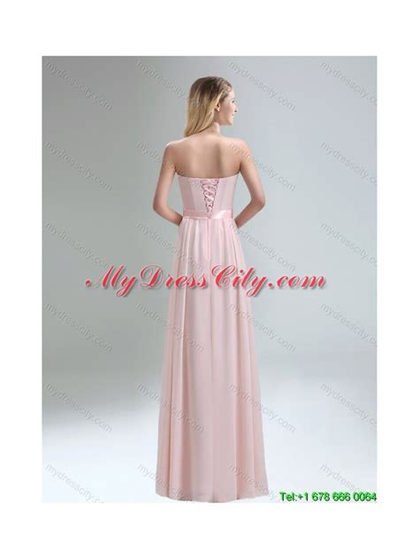 light pink dama dresses 2015 summer style light pink empire dama dresses with
