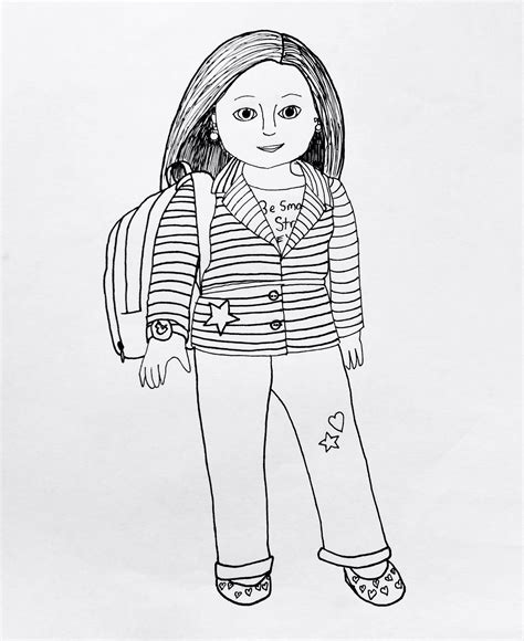 My American Girl Coloring Pages American Julie Coloring Pages