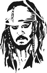Jack Sparrow Logo Vector (.CDR) Free Download | Silhouette