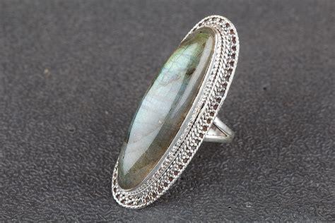unique labradorite silver gemstone ring jewelry bjr