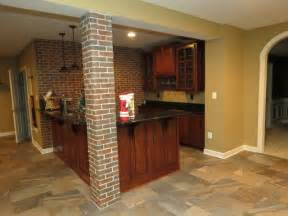 ceramic tile on basement floor basement remodel with new bar and ceramic tile floor traditional basement baltimore by