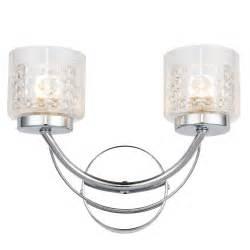 B Q Kitchen Lighting Cromwell Chrome Effect Wall Light Departments Diy At B Q