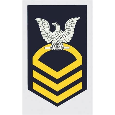 Petty Officer Rank by Usn E 7 Chief Petty Officer Decal