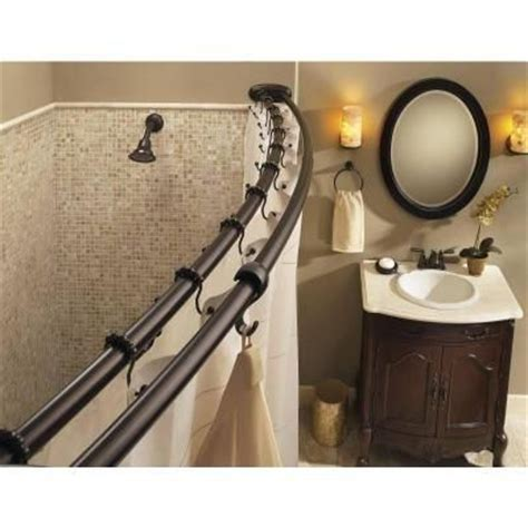 moen double shower curtain rod moen 60 in stainless steel adjustable double curved