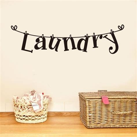 Diy Laundry Room Decor Laundry Wall Decal Vinyl Stickers Lettering Diy Laundry Room Decor Removable Wall Stickers