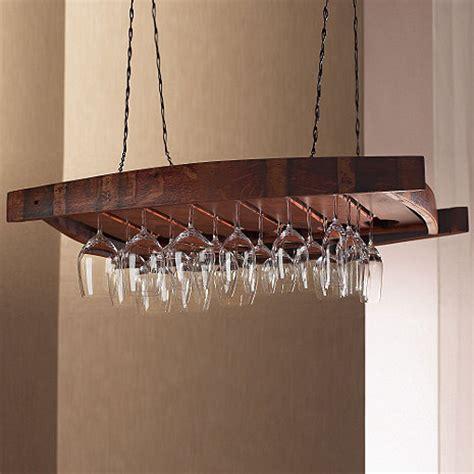 Hanging Wine Racks Ceiling by Vintage Oak Hanging Wine Glass Rack Wine Enthusiast