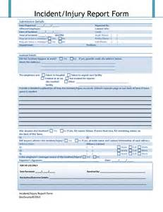 Injury Report Template accident injury report form template with blue color