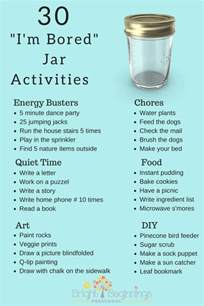things to do at home when bored 30 quot i m bored quot jar activities bright beginnings preschool
