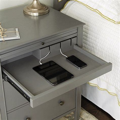 bedside table with charging station bedside table with charging station plantoburo com