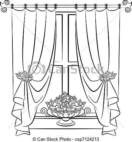 English Floral Curtains Vecteurs De Vendange Flowers Rideau The Vendange