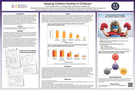 poster presentation templates for ece early childhood health data initiative the child health