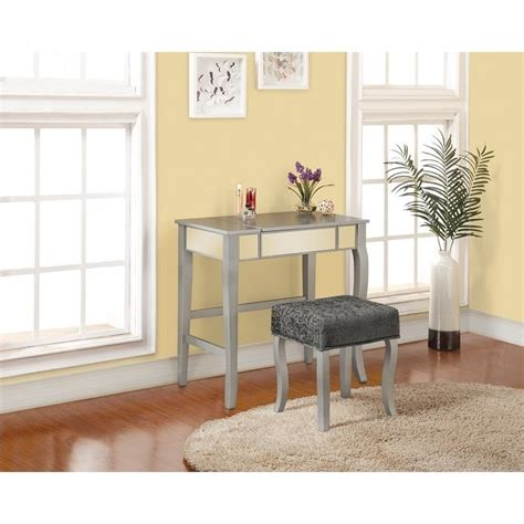 silver bedroom vanity bedroom vanity set in silver 580432sil01u