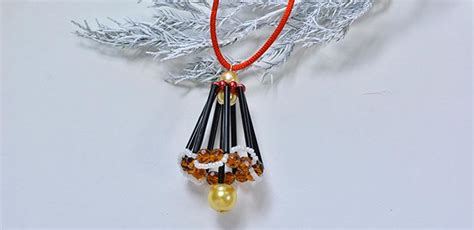 making christmas bell ornaments how to make a beaded bell hanging ornament pandahall