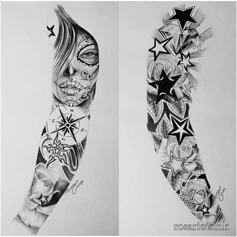 tattoo sketch of sleeve on paper amazing tattoo