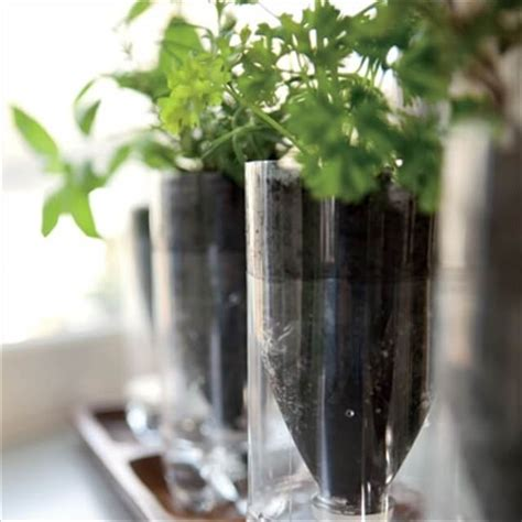 diy self watering herb garden 16 recycled bottle planters diy to make