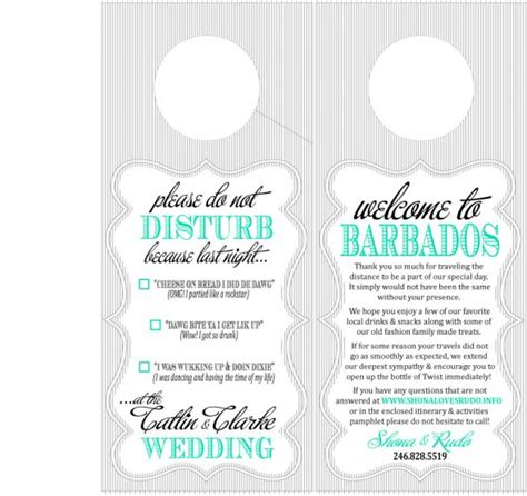 wedding door hangers template destination wedding oot bag door hanger weddingbee photo