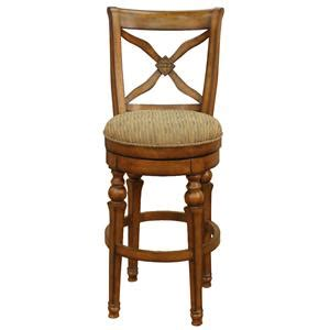 American Heritage Billiards Princess Swivel Bar Stool by Becker Furniture World Sign Up For Exclusive Offers