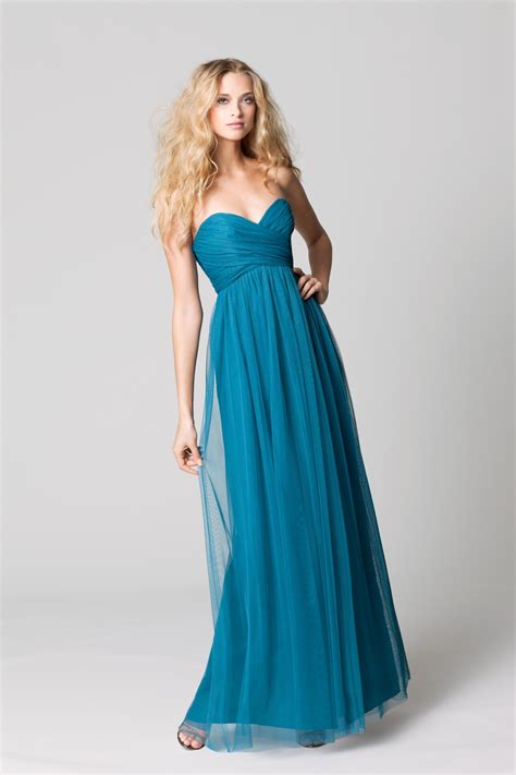 Teal Bridesmaid Dress by Affordable Bridesmaids Dresses Fall 2012 Wtoo By Watters