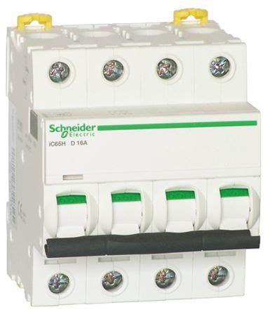 Mcb Schneider 3p 40a a9f28340 schneider electric acti 9 ic65h mcb 3p 40 a