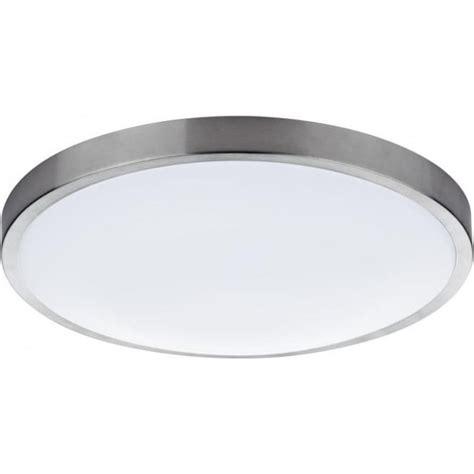 Medium Bathroom Flush Mount Light Ceiling Fitting by Dar Lighting Oban Single Light Led Flush Bathroom Ceiling Fitting In Satin Chrome Finish