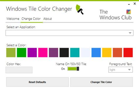 how to change color on windows 8 windows tile color changer change start screen tiles color